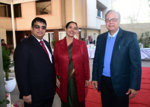 Dr Rajesh Taneja with colleague